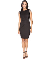 Sangria - Perforated Sheath Dress