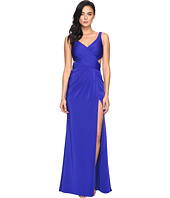 Faviana - Faille Satin V-Neck w/ Back Cut Out 7954