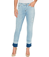 Hudson - Zooey Mid-Rise Crop Straight with Released Hem Five-Pocket Jeans in Side Hussel