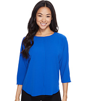 Vince Camuto Specialty Size - Petite 3/4 Sleeve Front Seam Blouse