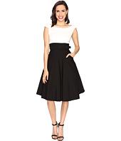 Unique Vintage - Tippie Color Block Off the Shoulder Dress