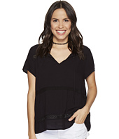 Jack by BB Dakota - Paulette Rayon Crepe + Ribbon Trim Top