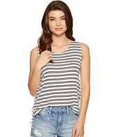 Jack by BB Dakota - Loren Stripe Lace-Up Side Knit Tank Top