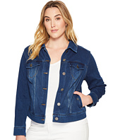 Liverpool - Plus Size Classic Denim Jacket in Powerflex Knit Denim