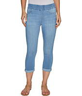 Liverpool - Sienna Pull-On Rolled-Cuff Capris in Silky Soft Denim in Normandie Light