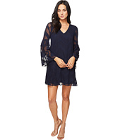 Donna Morgan - Bell Sleeve Chiffon Jacquard Tent Dress