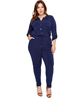 MICHAEL Michael Kors - Plus Size Roll Sleeve Raglan Jumpsuit