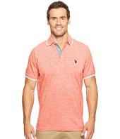 U.S. POLO ASSN. - Short Sleeve Solid Classic Fit Slub Polo Shirt