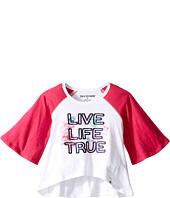 True Religion Kids - Drape Baseball Tee (Toddler/Little Kids)