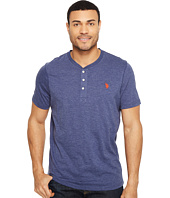 U.S. POLO ASSN. - Solid Short Sleeve Henley Slim Fit T-Shirt