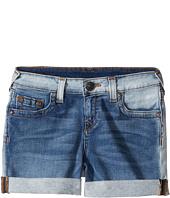 True Religion Kids - Audrey Boyfriend Shorts in Side Car Blue (Big Kids)