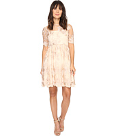 Adrianna Papell - Short Elbow Length Embroidered Party Dress