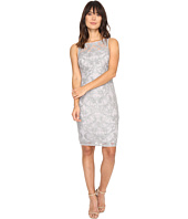 Adrianna Papell - Falling Vines Sequin Embroidery in Basic Sleeveless Sheath Dress