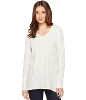Mod-o-doc - 2-Ply Pointelle Seamed Long Sleeve V-Neck Tee