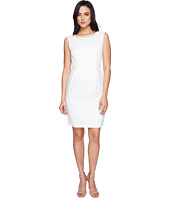 Ellen Tracy - Jacquard Dress with Belt and Embellishment