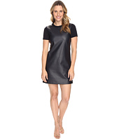 MICHAEL Michael Kors - Faux Leather Front Dress