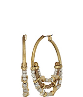 Lucky Brand - Beaded Metal Hoops Earrings