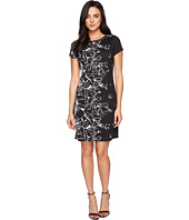 Ellen Tracy - Floral Knit Sheath Dress