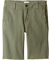 Hudson Kids - Beach Daze Raw Hem Sateen Chino Shorts in Green Ash (Toddler/Little Kids/Big Kids)