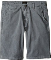 Hudson Kids - Sunny Pigment Dyed Twill Shorts in Medium Grey (Big Kids)