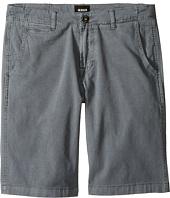 Hudson Kids - Sunny Pigment Dyed Twill Shorts in Medium Grey (Big Kids)