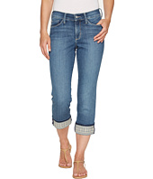NYDJ - Dayla Wide Cuff Capris w/ Embroidery in Heyburn Wash