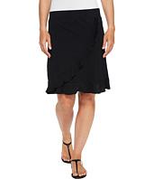 Mod-o-doc - Slub Jersey Faux Wrap Ruffle Skirt