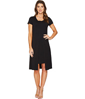 Mod-o-doc - Cotton Modal Spandex Jersey Short Sleeve Flyaway Layered T-Shirt Dress
