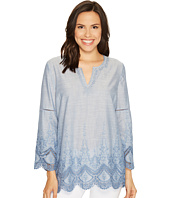 NYDJ - Embroidered Chambray Voile Top
