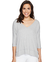 HEATHER - Cold Shoulder V-Neck Top