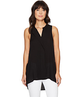 HEATHER - Silk Placket Tank Tunic Top