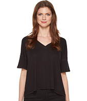 HEATHER - V-Neck Boxy Tee