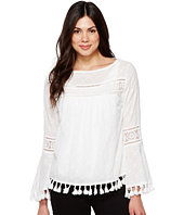 Karen Kane - Embroidered Tassel Top