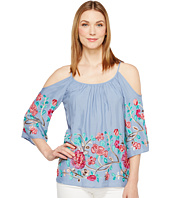 Karen Kane - Embroidered Cold Shoulder Top