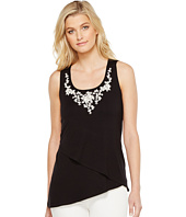 Karen Kane - Asymmetric Embroidered Tank Top