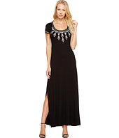 Karen Kane - Embroidered Cap Sleeve Maxi Dress