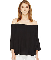 Vince Camuto - Three-Quarter Sleeve Pleated Off Shoulder Blouse