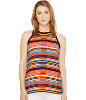 Vince Camuto - Sleeveless Cubana Beats Back Tie Halter Blouse