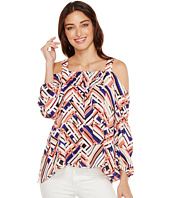 Vince Camuto - Maasai Geo Cold-Shoulder Blouse