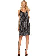 Vince Camuto - Electric Lines Tank Dress w/ Invert Pleat