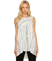 Vince Camuto - Sleeveless Electric Lines High-Low Hem Top