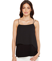 Vince Camuto - Mix Media Asymmetrical Overlay Tank Top