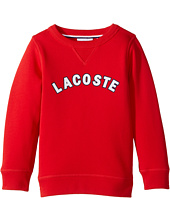 Lacoste Kids - Crew Neck Fleece w/ Logo (Toddler/Little Kids/Big Kids)