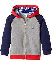 Lacoste Kids - Small Hoodie Color Block Sweatshirt (Toddler/Little Kids/Big Kids)