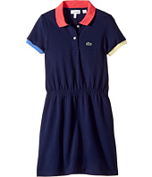 Lacoste Kids - Pique Color Block Rib Dress (Toddler/Little Kids/Big Kids)