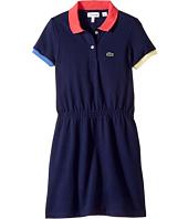 Lacoste Kids - Pique Color Block Rib Dress (Toddler/Little Kids/Big Kids)