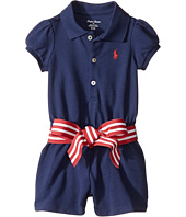 Ralph Lauren Baby - Stretch Mesh Polo Romper (Infant)