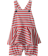 Ralph Lauren Baby - Jersey Stripe Peplum Shortalls (Infant)