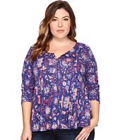 Lucky Brand - Plus Size Floral Swing Top