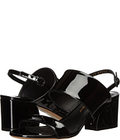 Salvatore Ferragamo - Leather Double Band Mid-Heel Sandal